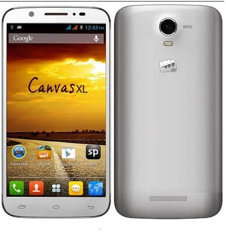 New Phablet launched by Micromax Canvas XL priced for 13,990/-