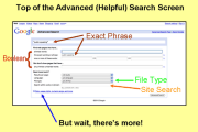 Concept Behind Google Advance Search, Exploring Features on the web