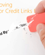 remove author credit link from blogger template