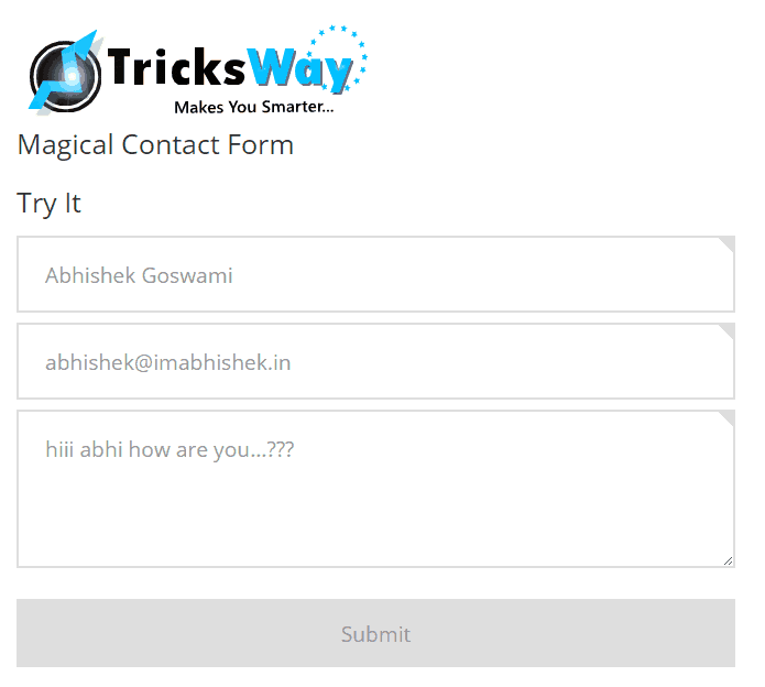 Create simple and magical contact form for your website