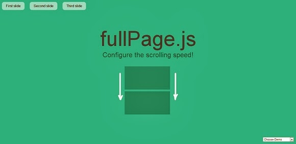 Fullscreen presentation easy scrolling with jQuery