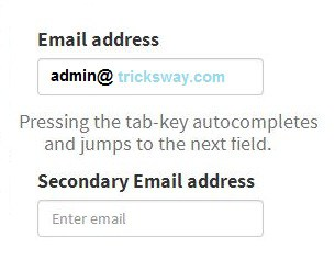 auto fill email jquery script