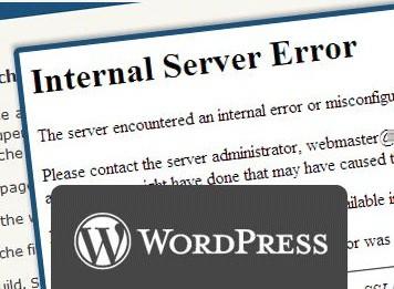WordPress internel server error solutions