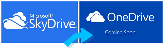skydrive change to one drive