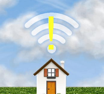 wi fi problem with yellow symbol