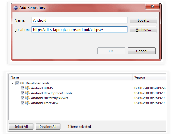 Android development with Eclipse