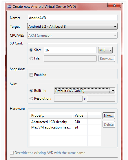 Android develpoment with Eclipse 3
