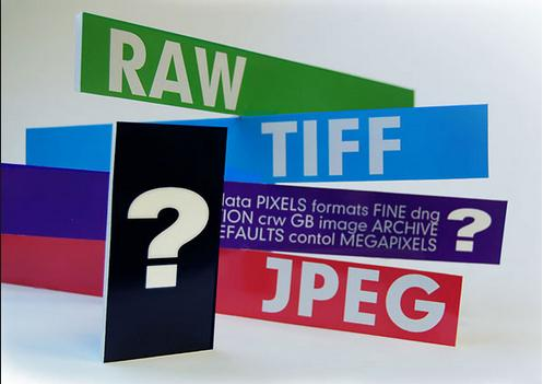 Various file formats to store images