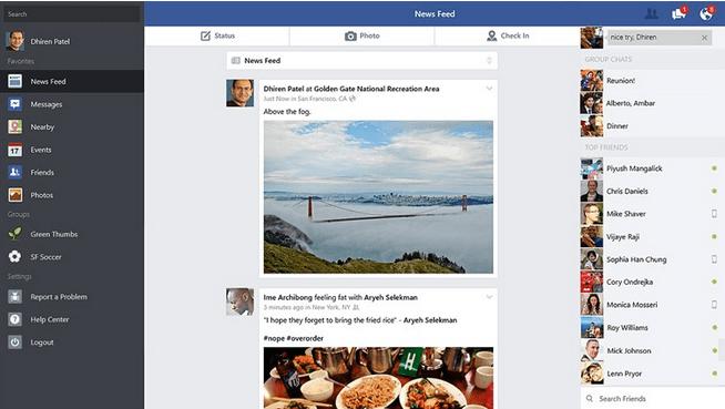 facebook apps for windows 8.1