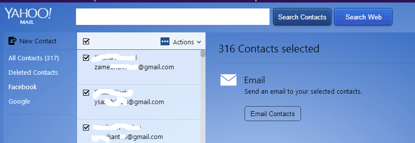 facebook email contact recover