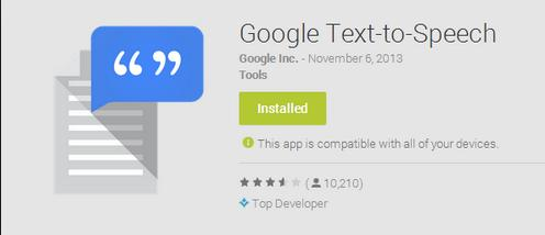 Android's Google Text-to-Speech app soon get high-quality voices