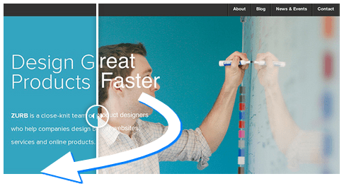 Image Over Slider Effect Moves Across The Image