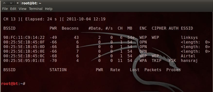 backtrack wi-fi hacking