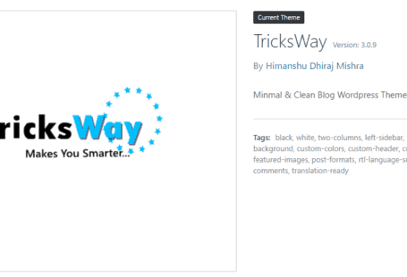 WordPress Theme Details TricksWay